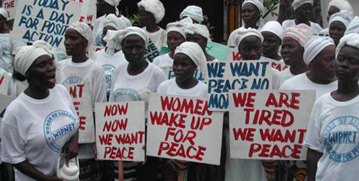 Women end civil war in Liberia